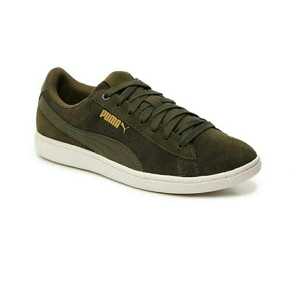 Puma Shoes - PUMA VIKKY LO SUEDE SNEAKER - Olive Green 856f1d02c